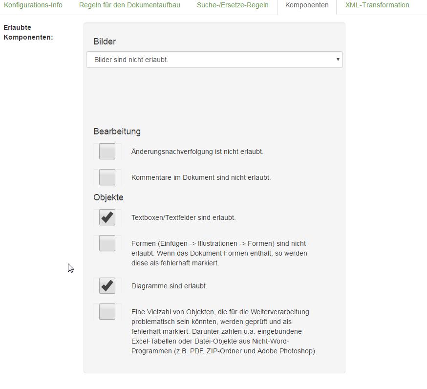data2check-Dokumentation – Ein Word-Dokument prüfen