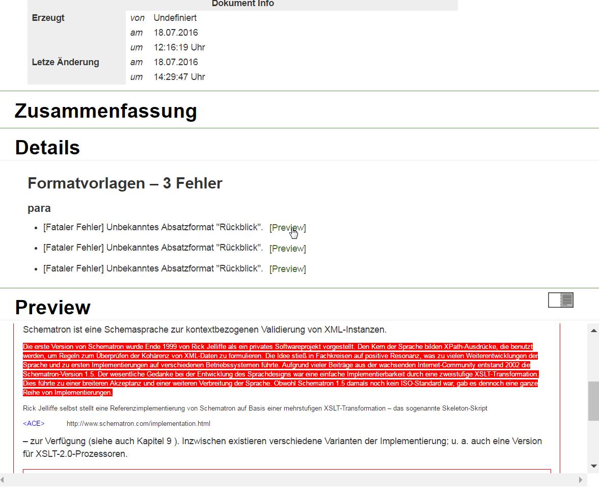 data2check-Dokumentation – Ein InDesign-Dokument prüfen